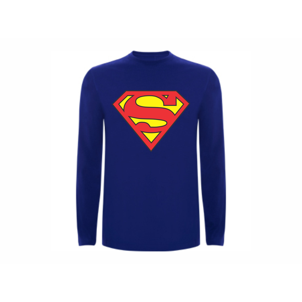 T shirt ls superman for Make your own superman shirt