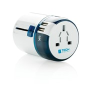 Travel Blue world travel adapter USB , white