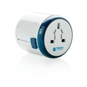 Travel Blue world travel adapter, white
