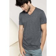 V-NECK SHORT SLEEVE MELANGE T-SHIRT
