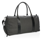 Weekend bag with USB output, black