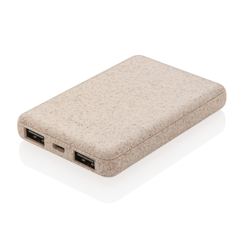 WHEAT STRAW 5.000 MAH POCKET POWERBANK