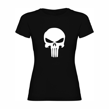 Woman T shirt Angry Skull