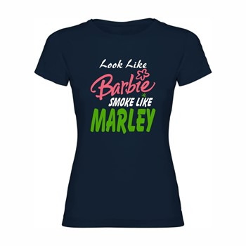 Woman T shirt Barbie smokes