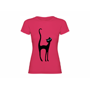Woman T shirt Black Cat
