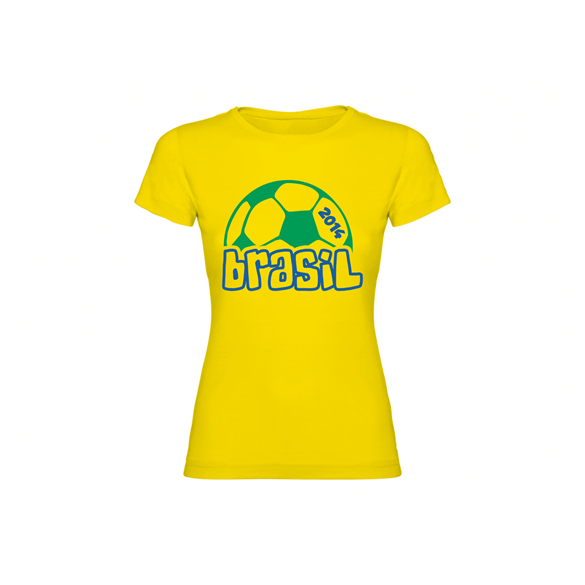 Woman T-shirt Brasil Ball