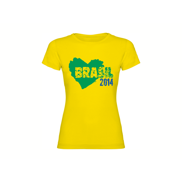 Woman T-shirt Brasil Heart