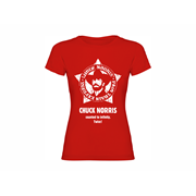 Woman T-shirt Chuck Norris Star