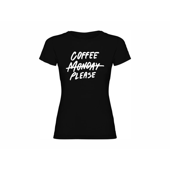 Woman T shirt Coffee please