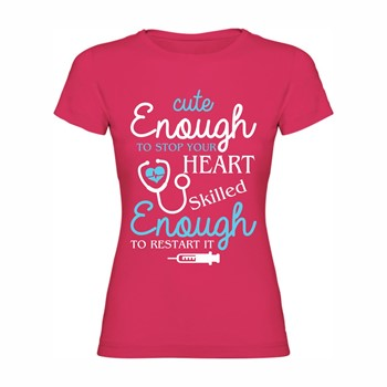 Woman T shirt Cute and skilled