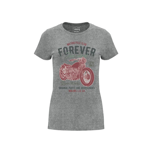 Woman T shirt Forever two wheel