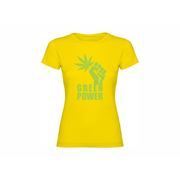 Woman T shirt Green power