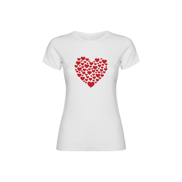 Woman T Shirt Hearts
