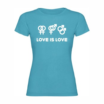 Woman T shirt Love is Love
