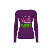 Woman T shirt LS Barbie smokes