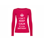 Woman T shirt LS Calm Birthday