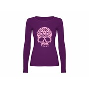 Woman T shirt LS Flower skull