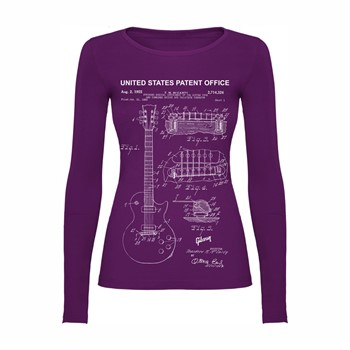 Woman T shirt LS Gibson les Paul