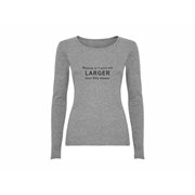 Woman T shirt LS Larger