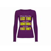 Woman T shirt LS Last Time