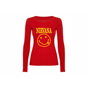 Woman T shirt LS Nirvana