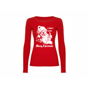 Woman T shirt LS Santa don't exist