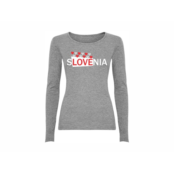 Woman T shirt LS Slovenia Heart