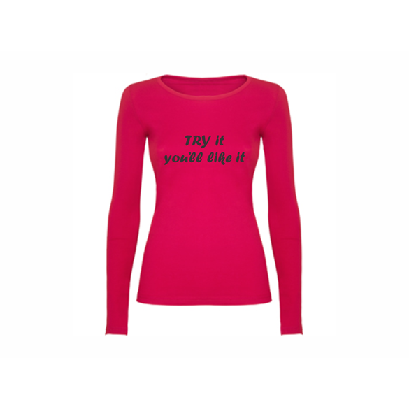 Woman T-shirt LS Try It