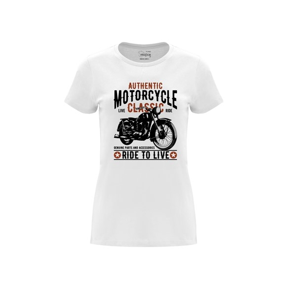 Woman T shirt Ride to live