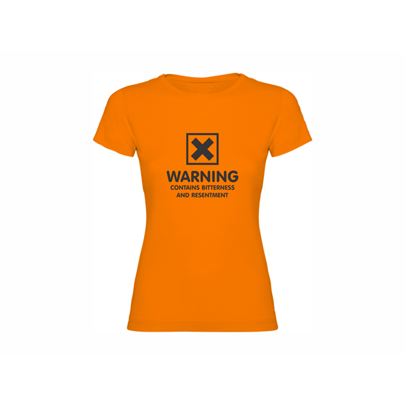 Woman T shirt Warning
