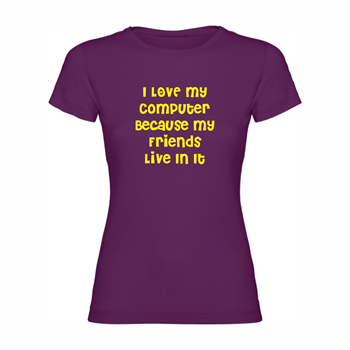 Women T Shirt My computer