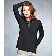 Women'S Fashion Basic Long Sleeve Hooded Tee