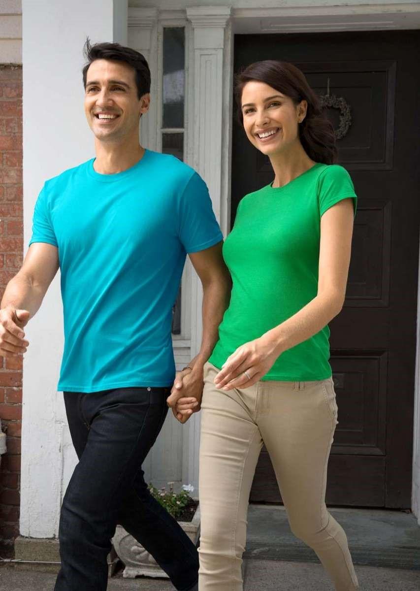Gildan Softstyle Adult T Shirt Torch Tshirt Women Blue Black Navy M