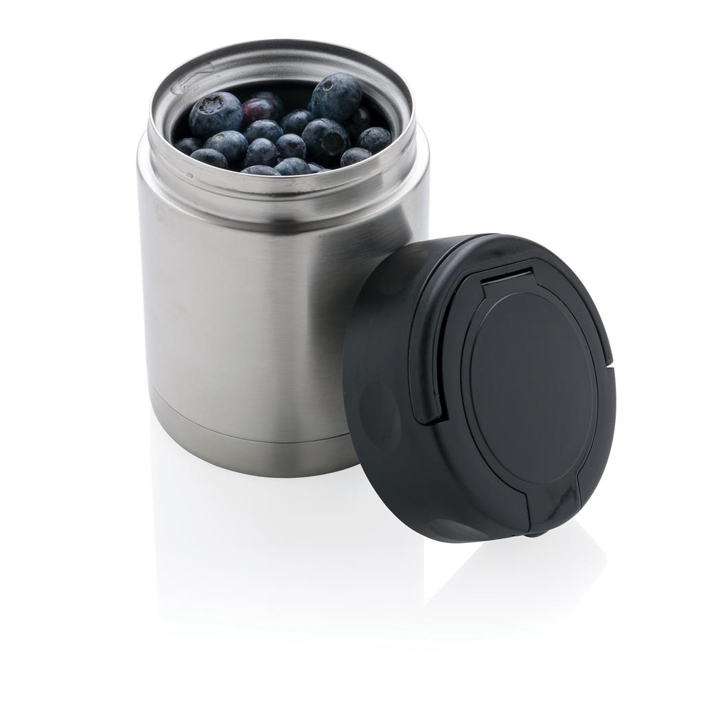 Vacuum insulated food container , silver