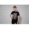 Woman T shirt Wearing Black